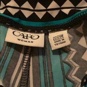 Multi color ( black, turquoise, white) slacks